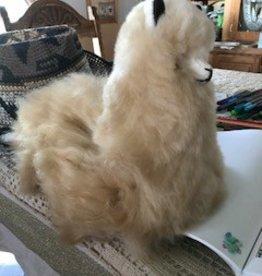 """Alpaca Stuffed, 12"""" Fawn Cushed"""