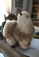 "Andean Art Alpaca Stuffed, 12"" Fawn/White Standing"