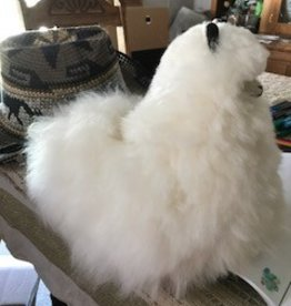 "Andean Art Alpaca Stuffed, 12"" White Cushed"