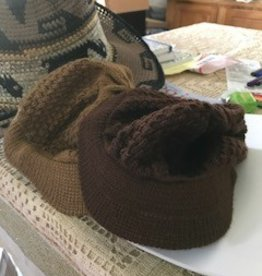 Alpaca Hat, Billed, Brown