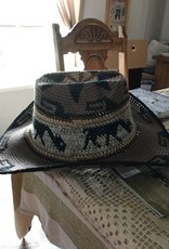 Alpaca Hat, Cowboy, Crocheted, Brown
