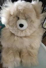 Alpaca Teddy Bear, 12 Inches Beige