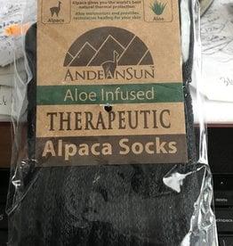 Andean Art Alpaca Socks, Therapeutic Unisex XL Black