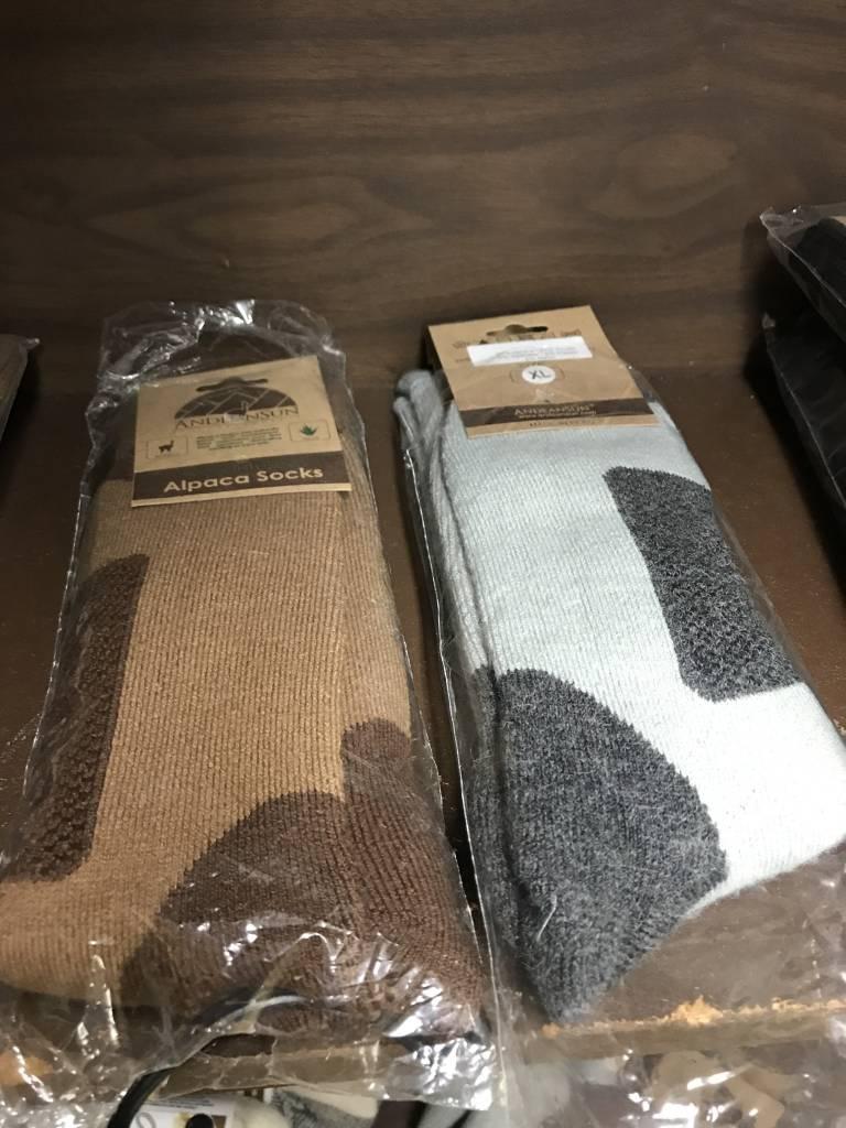Andean Art Alpaca Socks, Heavy, Mid Calf
