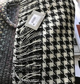 Alpaca Scarf, Houndstooth, Black and White