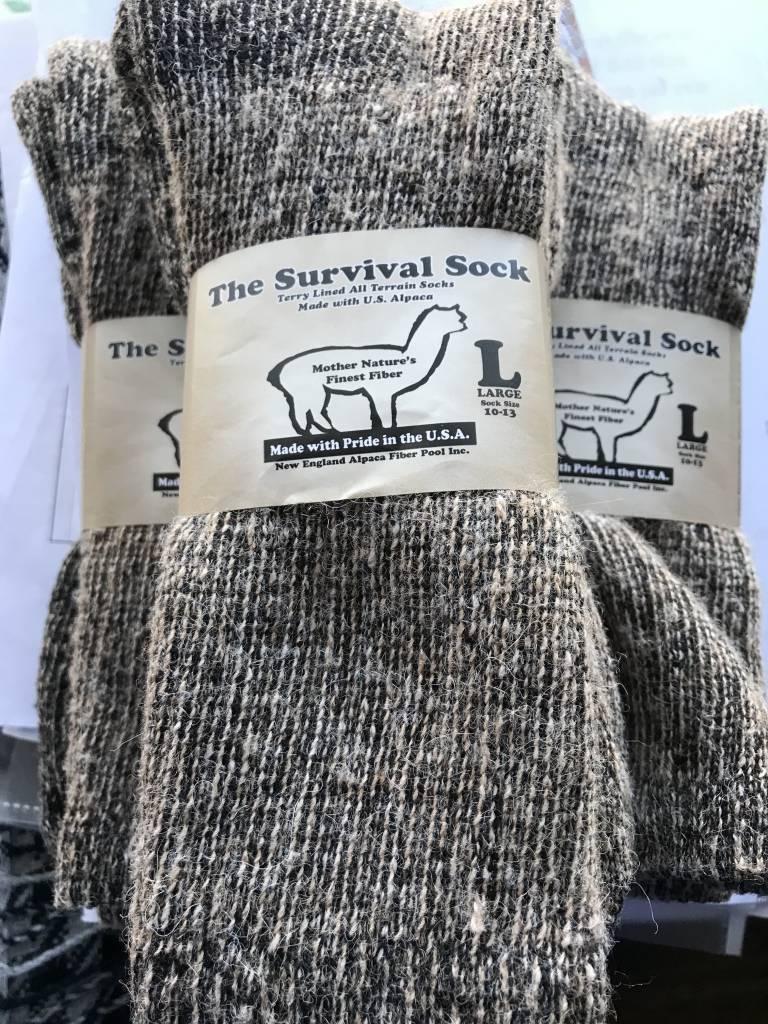 NEAFP Alpaca Socks, Survival Sock, Crew Length L Green