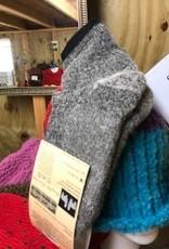 Alpaca Socks, Qtr Hikers, Gray Med/Lge