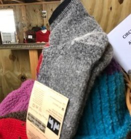 Choice Alpacas Alpaca Socks, Qtr Hikers, Gray Med