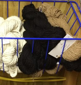 Alpaca Yarn, Onyx, DK 2 ply, Black 119y