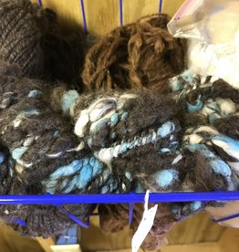 Alpaca Yarn, Beretta Blend, Art Yarn Dk Rose Gr/Blue