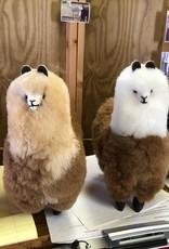 """Alpaca, Stuffed  LtFawn/DkFawn 10"""""""