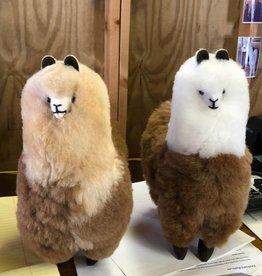 "Andean Art Alpaca, Stuffed  LtFawn/DkFawn 10"""