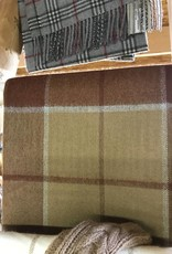 Alpaca Blanket Brown Plaid