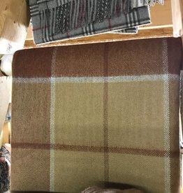 Alpaca Blanket Brown Plaid