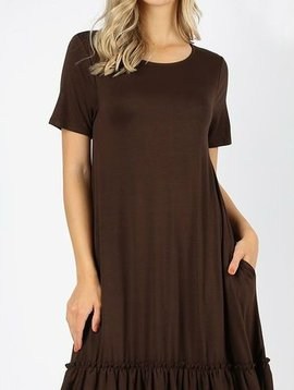 Ruffle Hem Dress Curvy