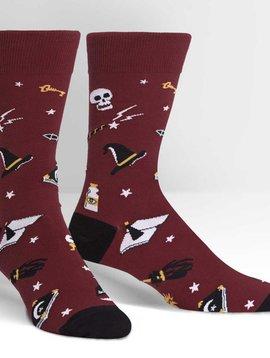 Spells Trouble Crew Socks
