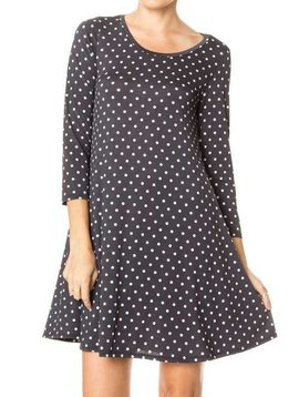 CURVY Polka Dot Swing Dress