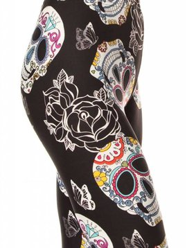 Sugar Skull and Roses Legging Curvy
