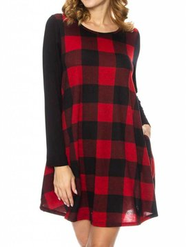 Buffalo Plaid Dress Curvy