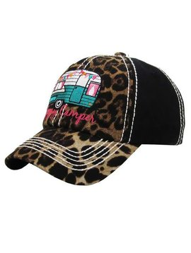 Happy Camper Ball Cap Leopard