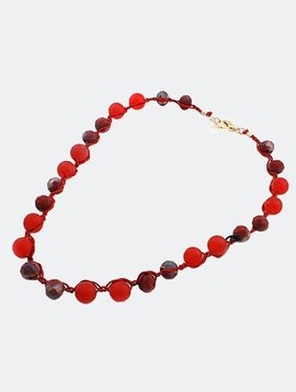 Cactus Creek Red Beaded Necklace