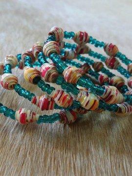 Paper Bead Wrap Bracelet #9
