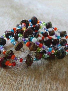Paper Bead Wrap Bracelet #10