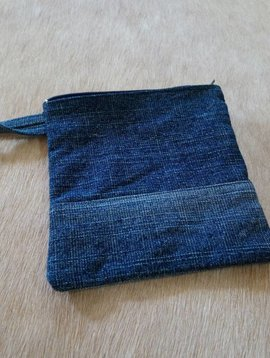 Hand Made Denim Pouch #1