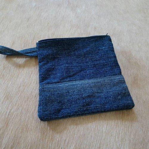Hand Made Denim Pouch #1