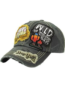 Wild & Free Happy Camper Ball Cap