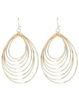 Teardrop Ring Earring Gold