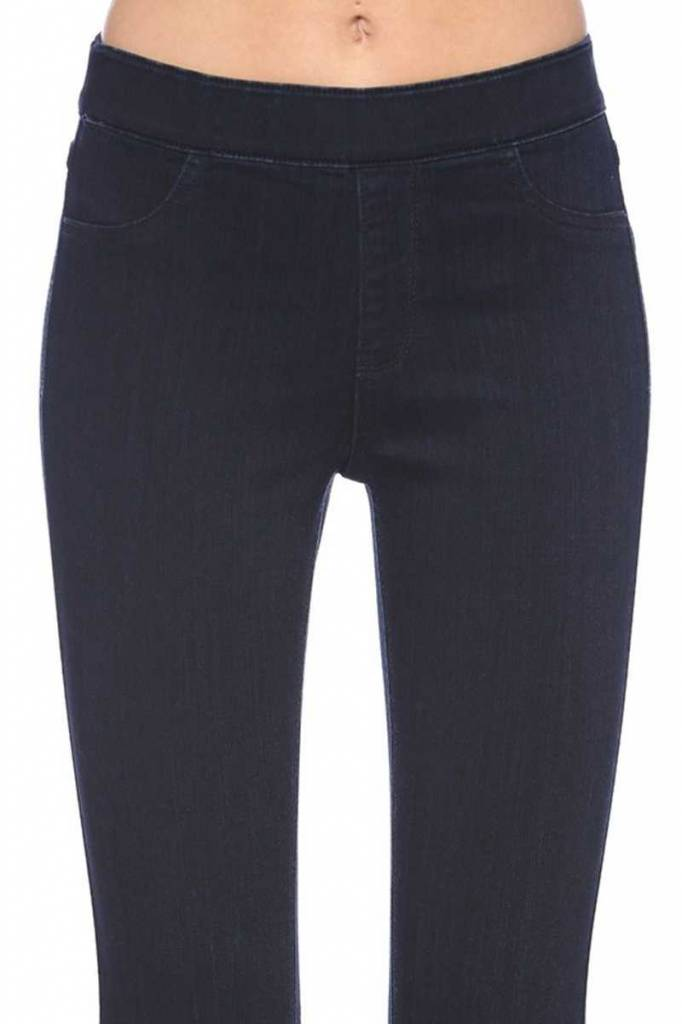 Dark Blue Flare Hem Pants