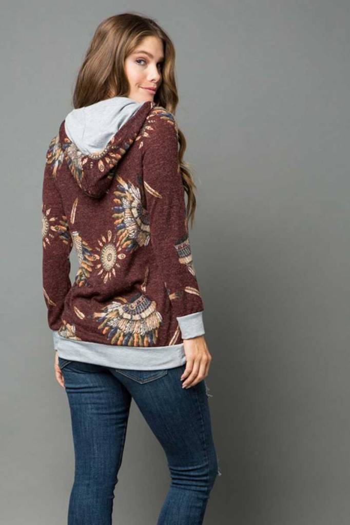 Indian Chief Hooded Sweater Curvy