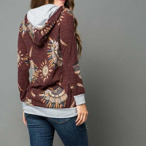 Indian Chief Hooded Sweater