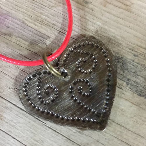 Small Hammered Metal Heart Charm from Haiti