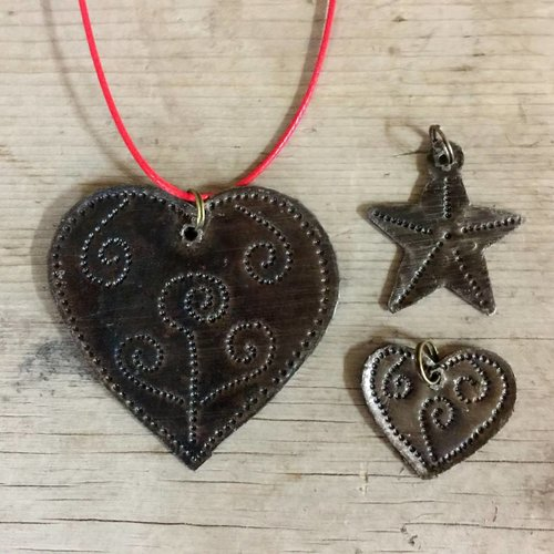 Small Hammered Star Charm from Haiti
