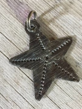 Cactus Creek Small Hammered Metal Star Charm from Haiti