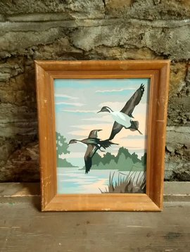 Geese Flying West Paint by Number