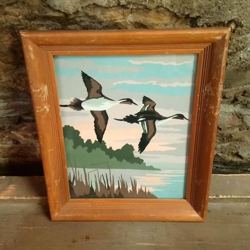 Geese Flying East Paint by Number