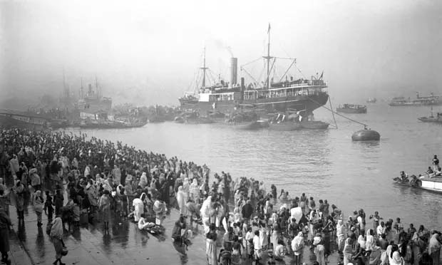 Ships arriving at the Chandpal Ghat, Kolkat