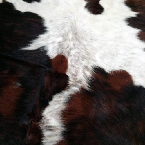 Brown, Black + White Spotted Cowhide #2380