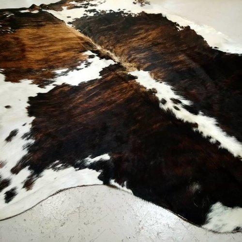 Brown Brindle Spotted Cowhide #2389