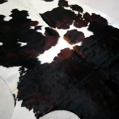 Dark Brown + White Spotted Cowhide # 2396