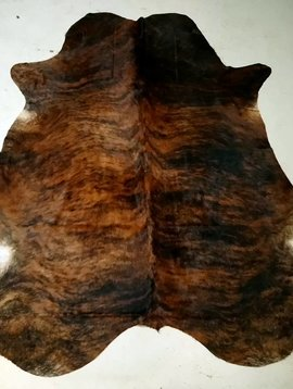 Red + Black Brindle Cowhide #2397
