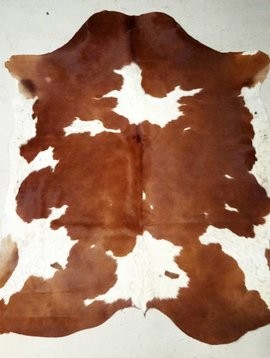 Brown + White Spotted Cowhide #2388