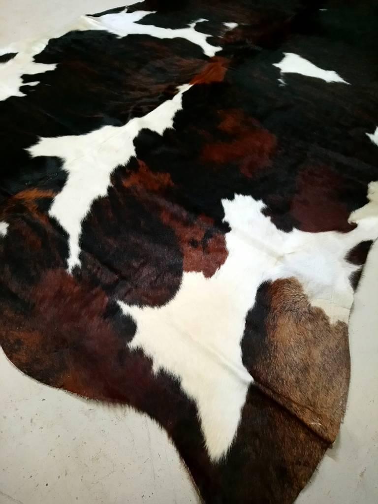 Brown + Black Brindle Spotted Cowhide #2387