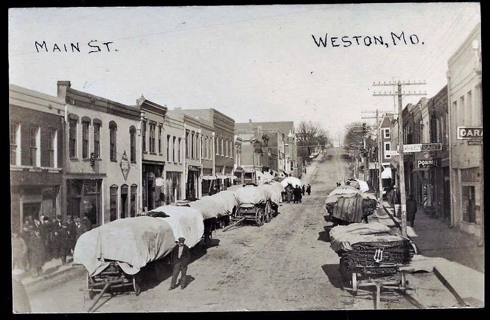 Tobacco Carts on Main Street in Weston MO
