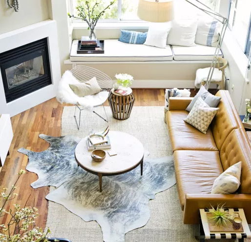 Layered Cowhide Rugs