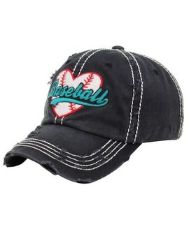 Baseball Love Distressed Cap