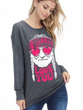 I Willie Love You Long Sleeve Top